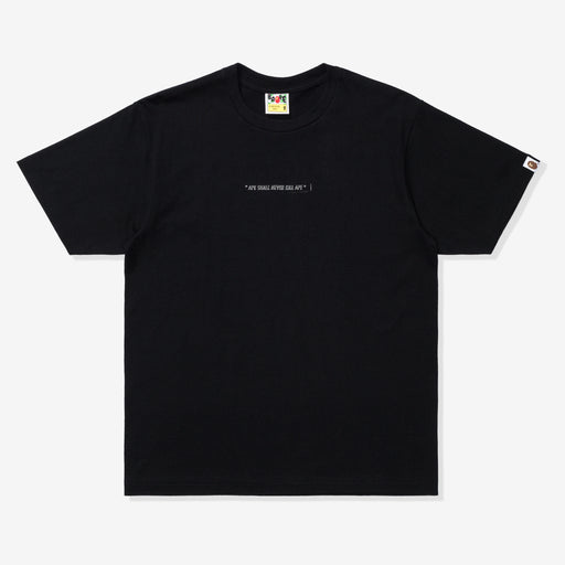BAPE A BATHING APE TEE - BLACK Image 1