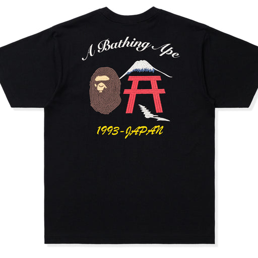 BAPE EMBROIDERY STYLE JAPAN CULTURE TEE - BLACK Image 2