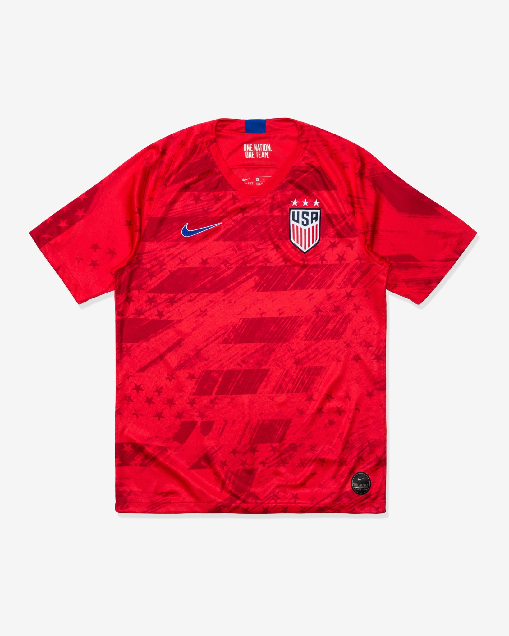 MEN'S U.S. STADIUM JERSEY 2019 - SPEEDRED/BRIGHTBLUE