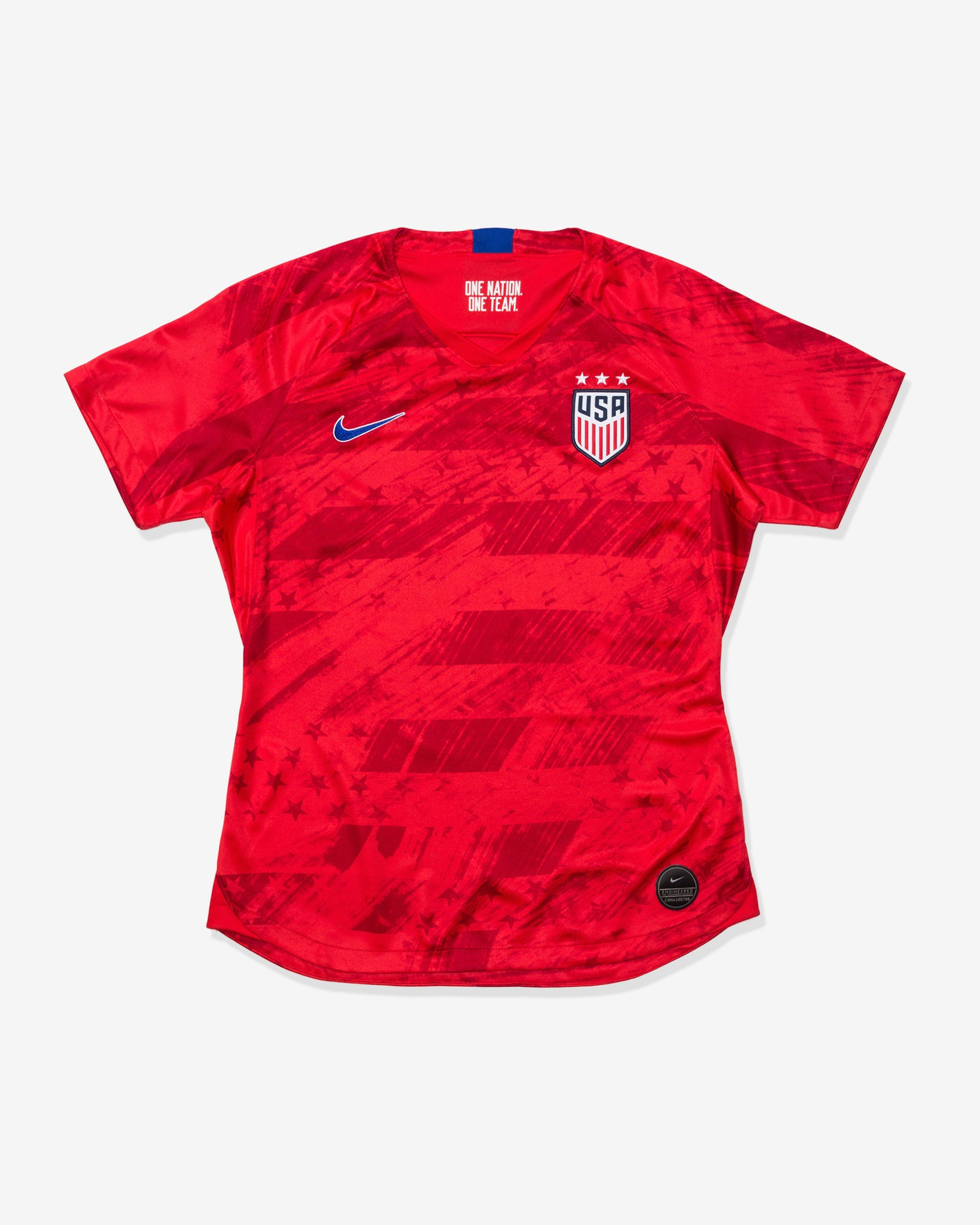 WOMEN'S U.S. STADIUM JERSEY 2019 - SPEEDRED/BRIGHTBLUE