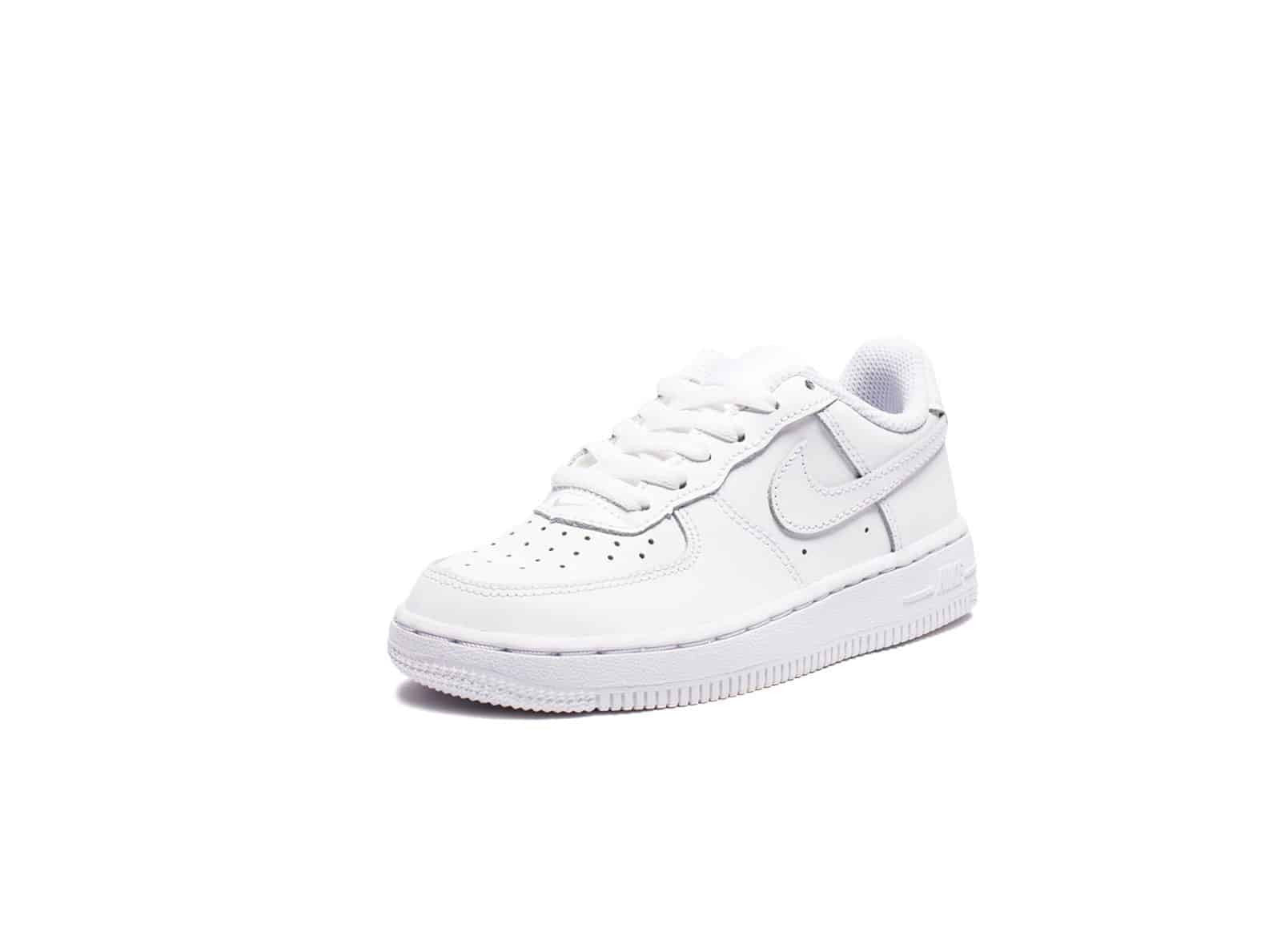 NIKE PRESCHOOL AIR FORCE 1 - WHITE/WHITE