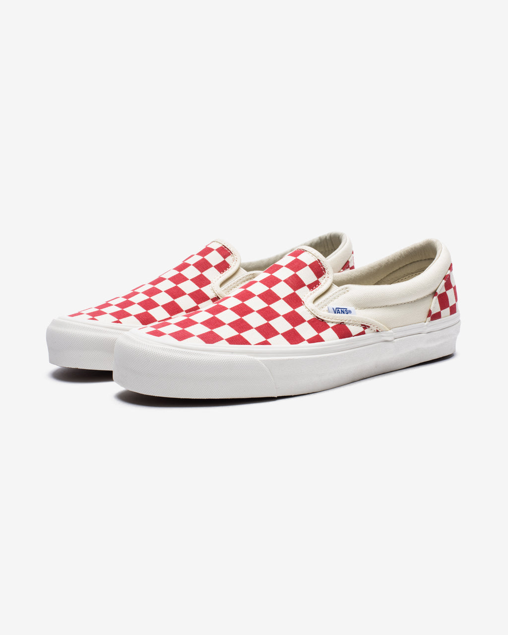 OG CLASSIC SLIP-ON LX (CHECKERBOARD) - WHT/RED