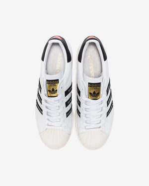 ADIDAS X HUMAN MADE SUPERSTAR80s - WHITE/ BLACK/ GOLDFOIL