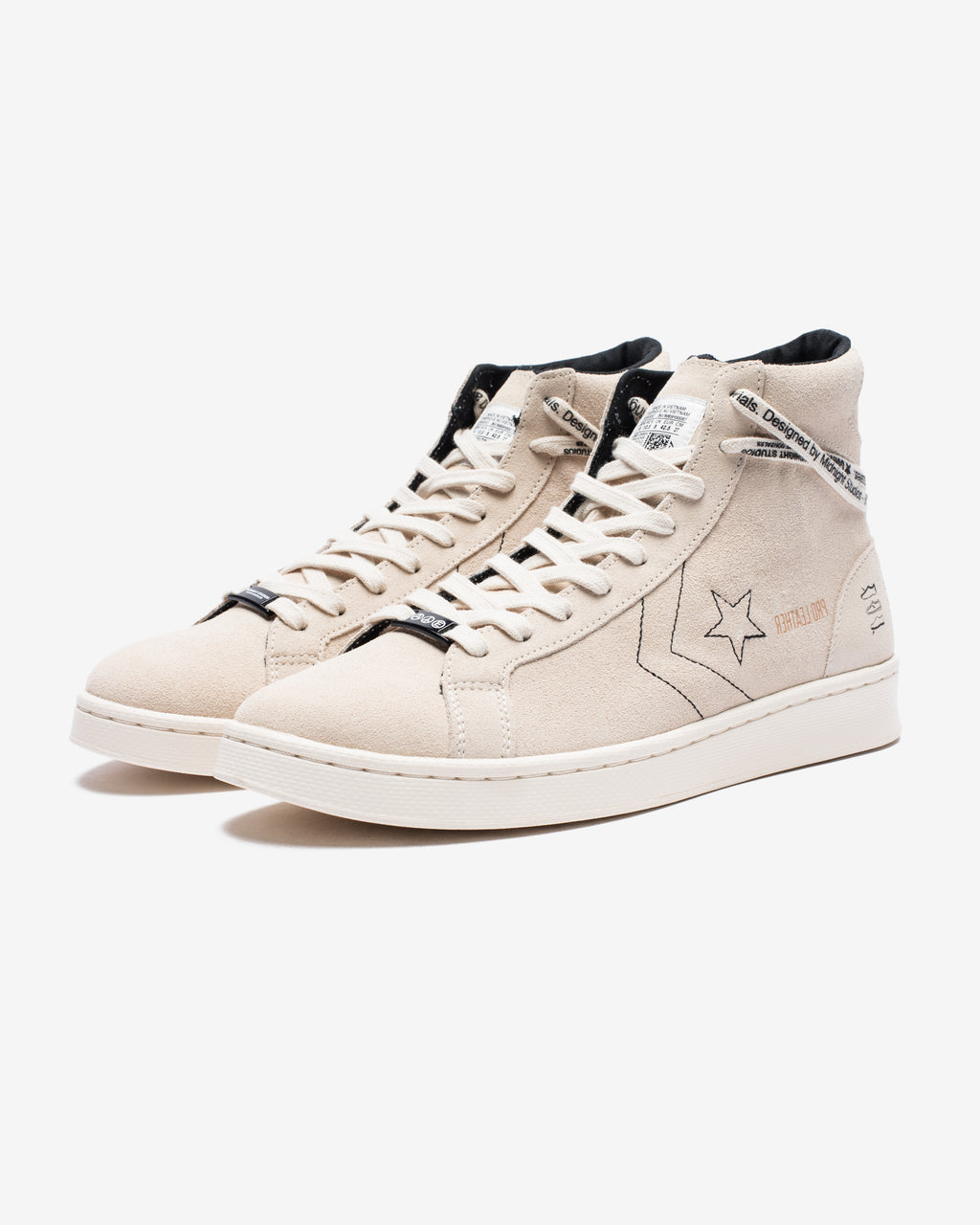 CONVERSE X MIDNIGHT STUDIOS PRO LEATHER HI - WHITE/EGRET/BLACK