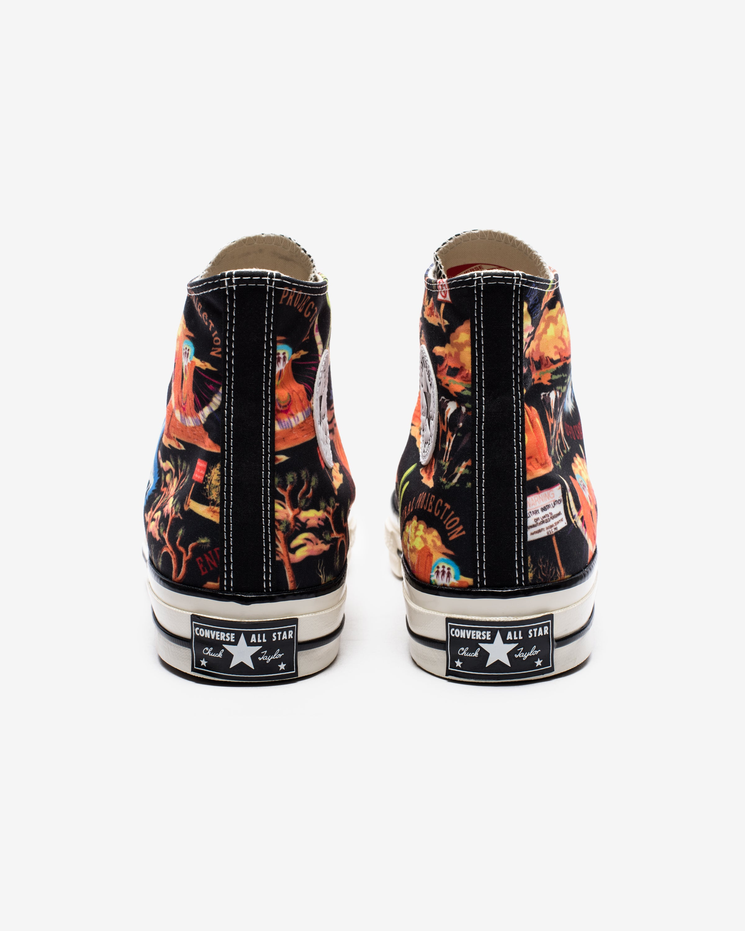 CONVERSE X TWISTED RESORT CHUCK 70 HI - BLACK/ MULTI/ EGRET