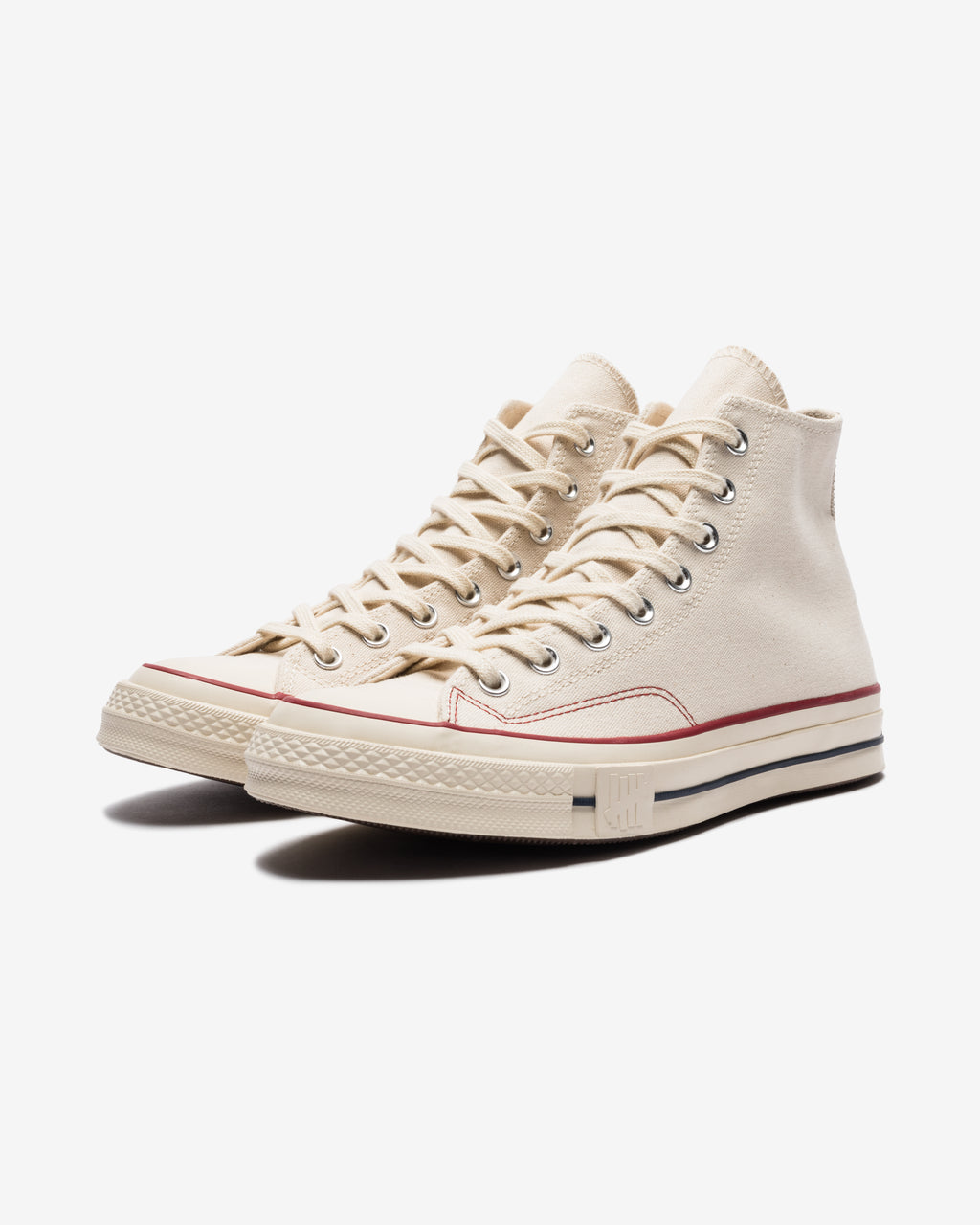 CONVERSE X UNDEFEATED CHUCK 70 HI - NATURAL/ FIERYRED