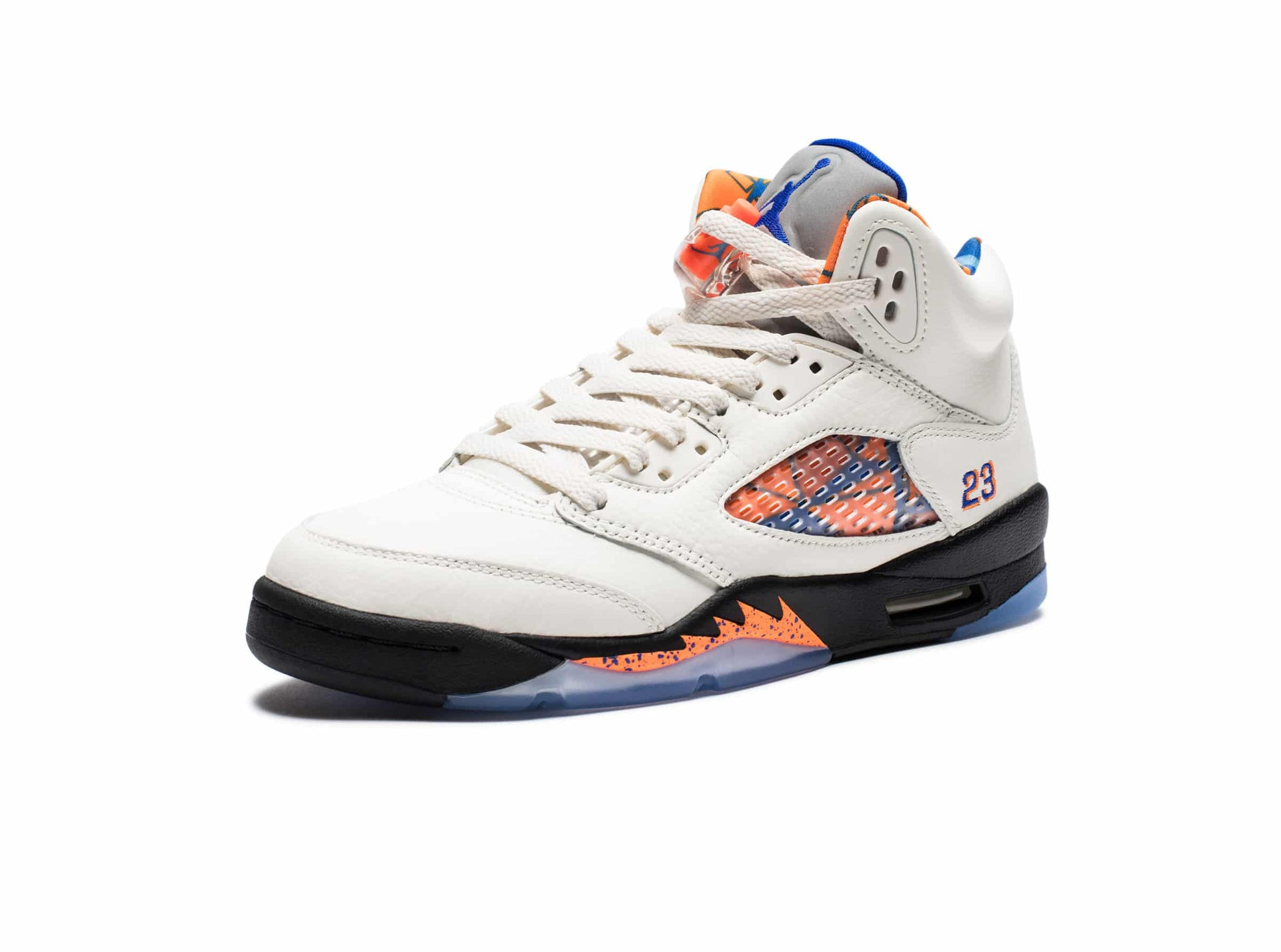 GS AIR JORDAN 5 RETRO - SAIL/RACERBLUE/CONE/BLACK