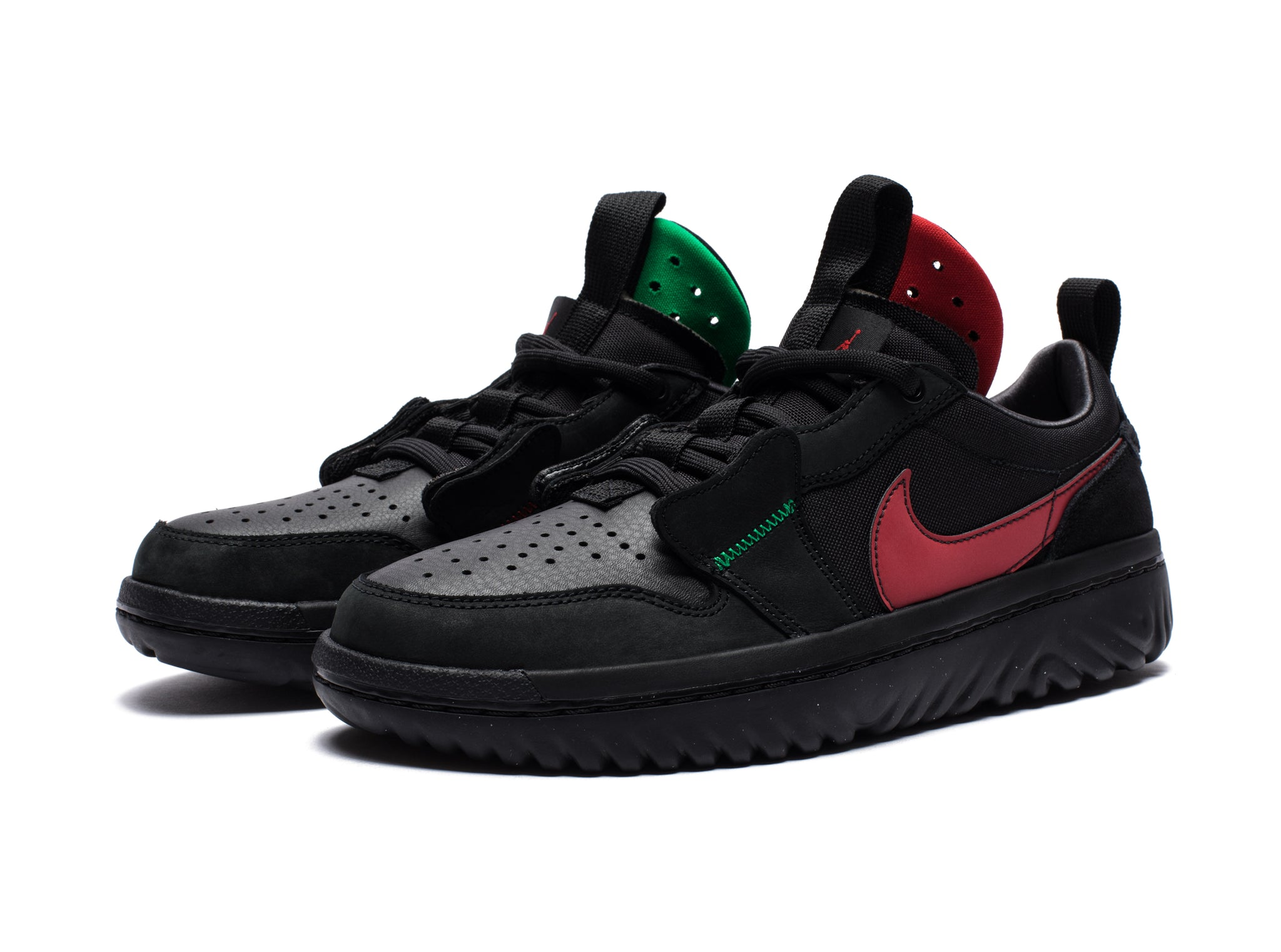 AJ 1 LOW REACT FEARLESS - BLACK/VARSITYRED