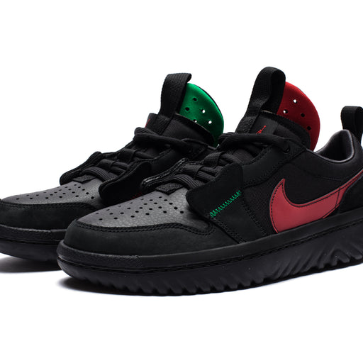 AJ 1 LOW REACT FEARLESS - BLACK/VARSITYRED Image 1