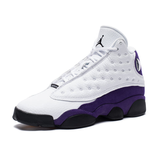 AJ 13 RETRO - WHITE/BLACK/COURTPURPLE/UNIVERSITYGOLD Image 1