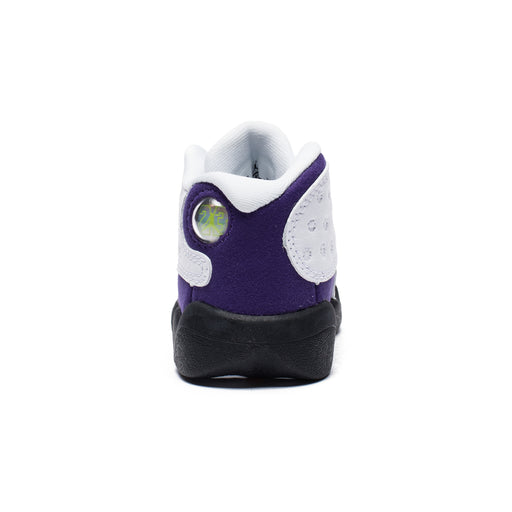 TD AJ 13 RETRO - WHITE/BLACK/COURTPURPLE/UNIVERSITYGOLD Image 3