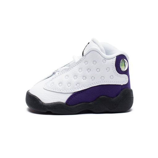 TD AJ 13 RETRO - WHITE/BLACK/COURTPURPLE/UNIVERSITYGOLD Image 4