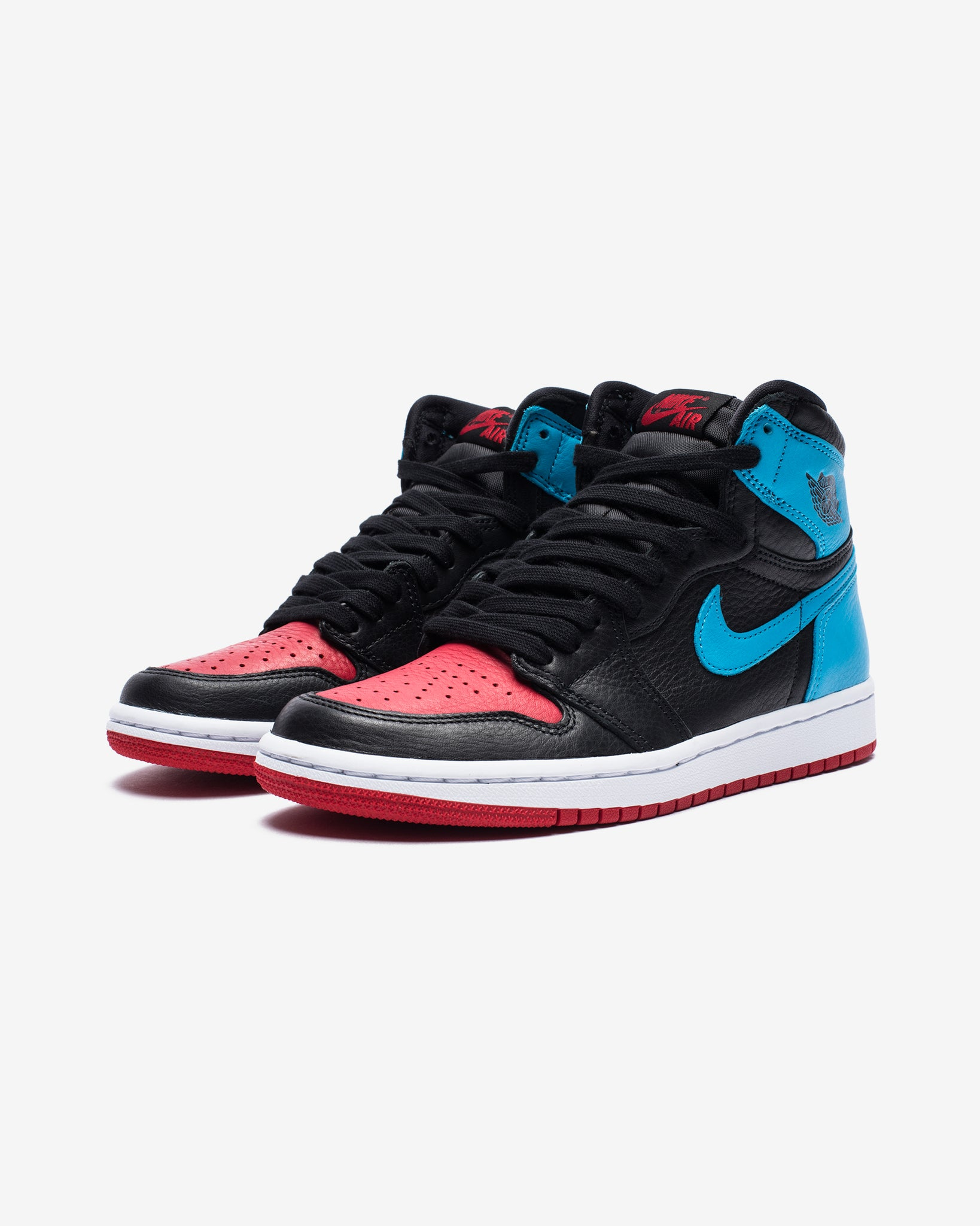 WOMEN'S AJ 1 HIGH OG - BLACK/DKPOWDERBLUE/GYMRED