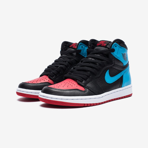 WOMEN'S AJ 1 HIGH OG - BLACK/DKPOWDERBLUE/GYMRED Image 1