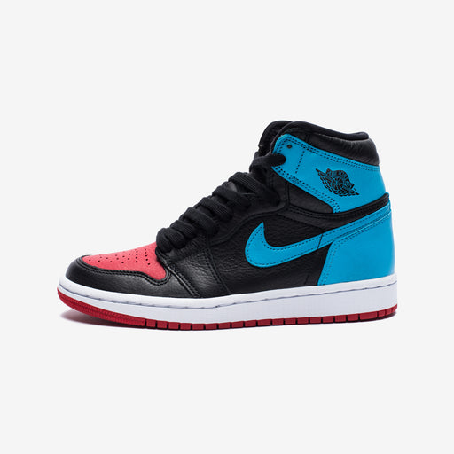 WOMEN'S AJ 1 HIGH OG - BLACK/DKPOWDERBLUE/GYMRED Image 2
