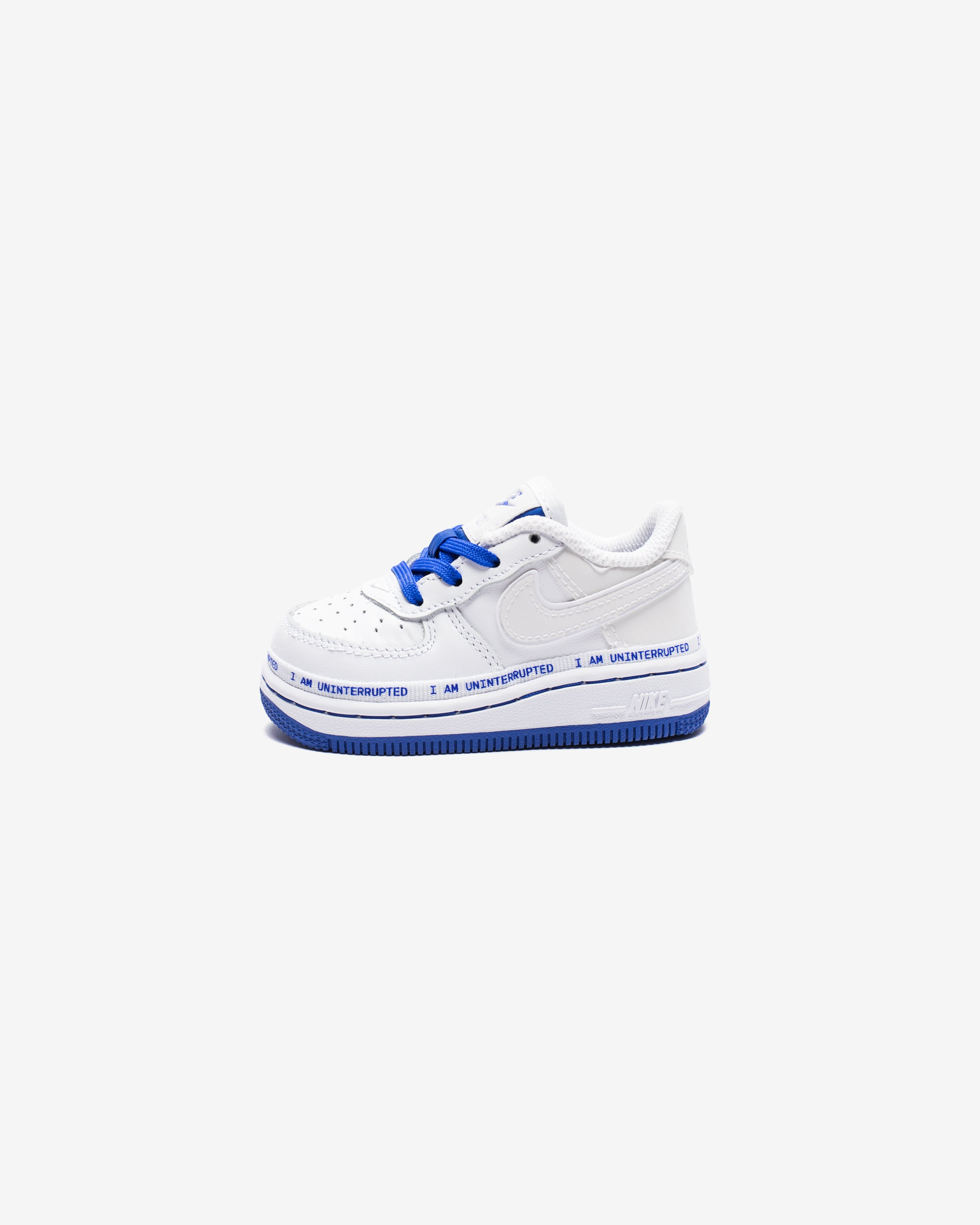 NIKE X UNINTERRUPTED TD AIR FORCE 1 '07 QS - WHITE/RACERBLUE