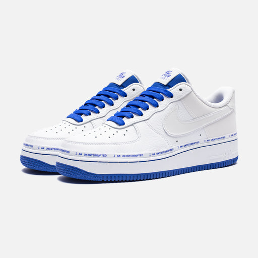 NIKE X UNINTERRUPTED AIR FORCE 1 '07 QS - WHITE/RACERBLUE Image 1