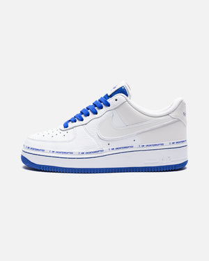 NIKE X UNINTERRUPTED AIR FORCE 1 '07 QS - WHITE/RACERBLUE