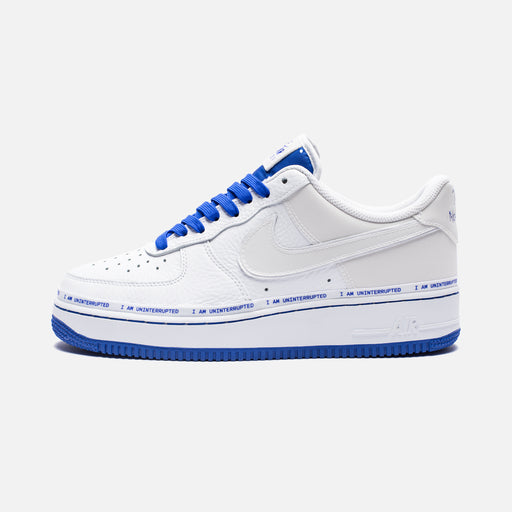 NIKE X UNINTERRUPTED AIR FORCE 1 '07 QS - WHITE/RACERBLUE Image 2
