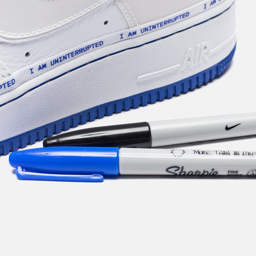 NIKE X UNINTERRUPTED AIR FORCE 1 '07 QS - WHITE/RACERBLUE Image 5