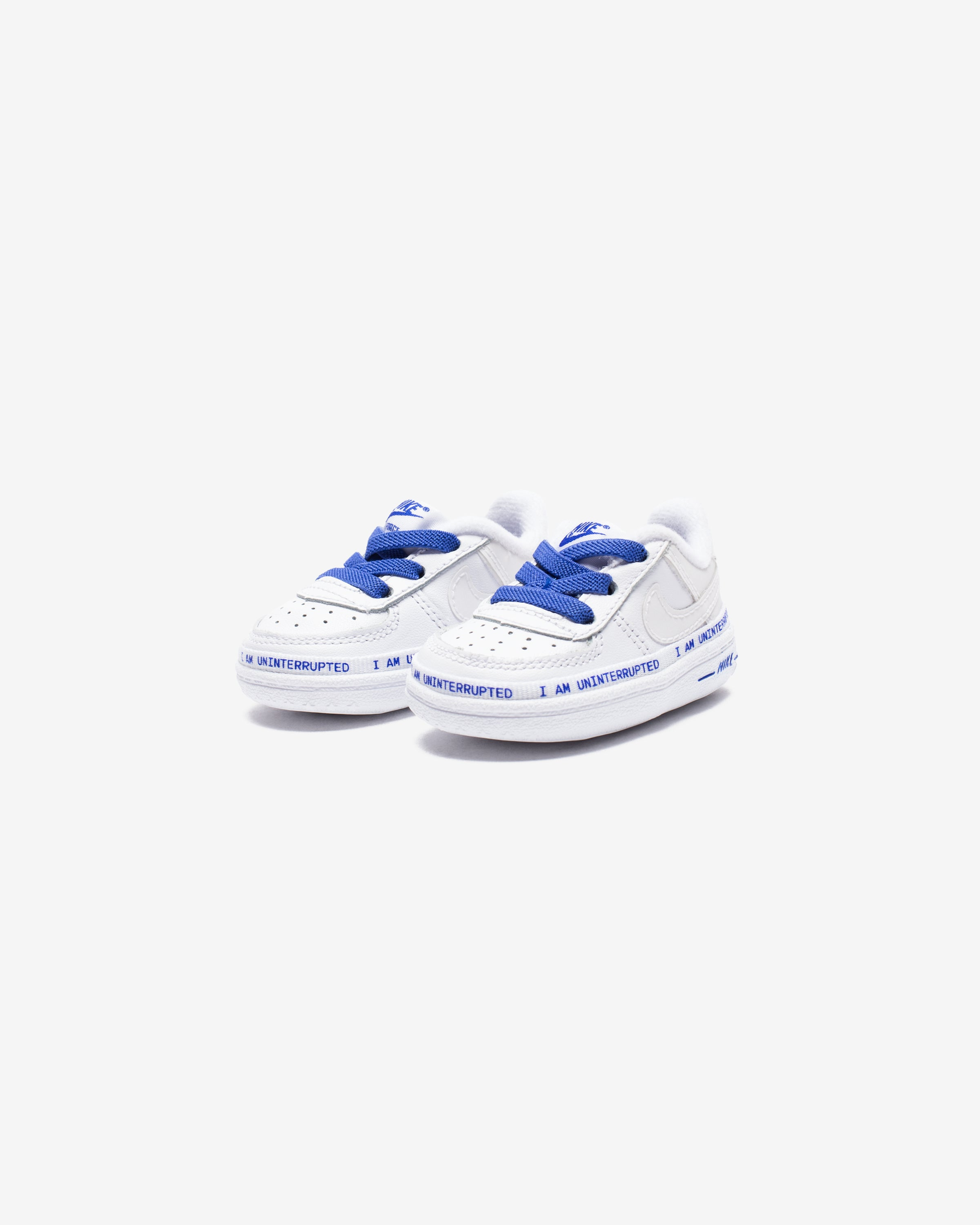 NIKE X UNINTERRUPTED CRIB AIR FORCE 1 '07 QS - WHITE/RACERBLUE