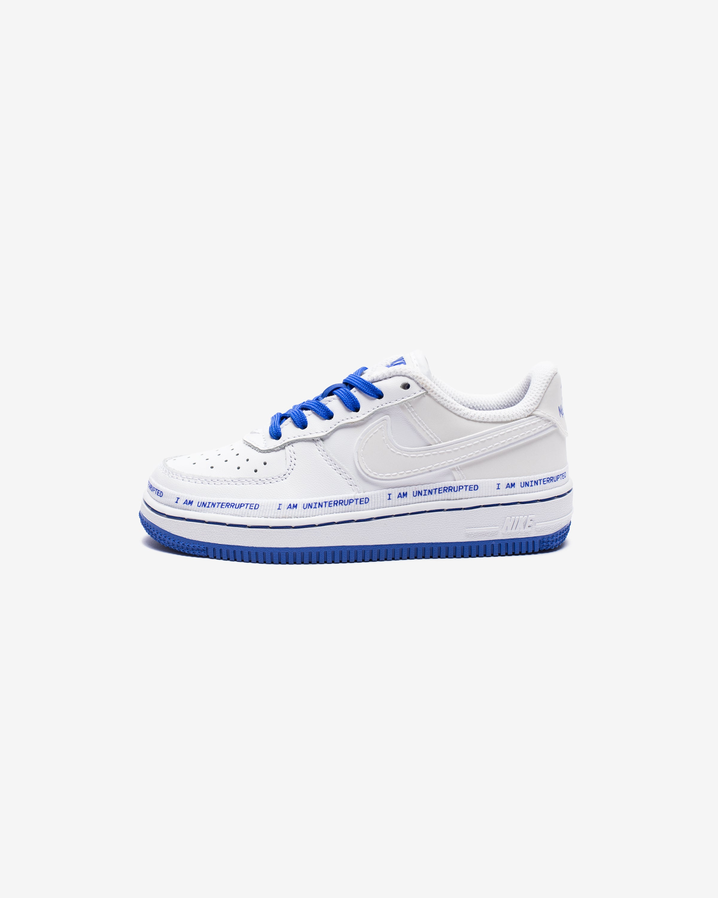 NIKE X UNINTERRUPTED PS AIR FORCE 1 '07 QS - WHITE/RACERBLUE