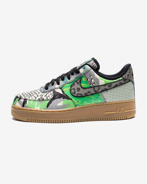 AIR FORCE 1 '07 QS - BLACK/GREENSPARK/GUMLIGHTBROWN