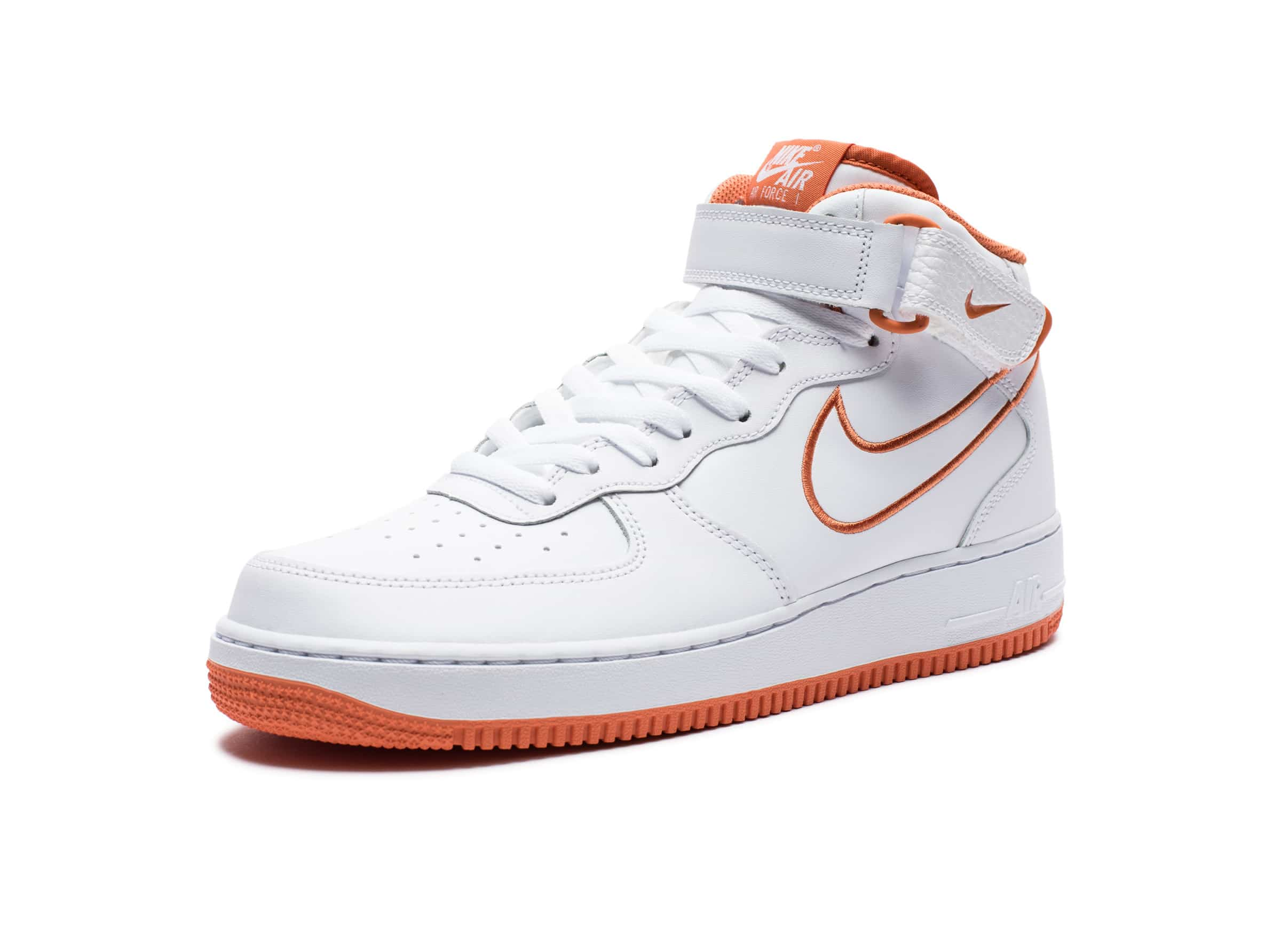 Mid Air Force '07 1 Leather WhiteterraorangeUndefeated O0P8nwk