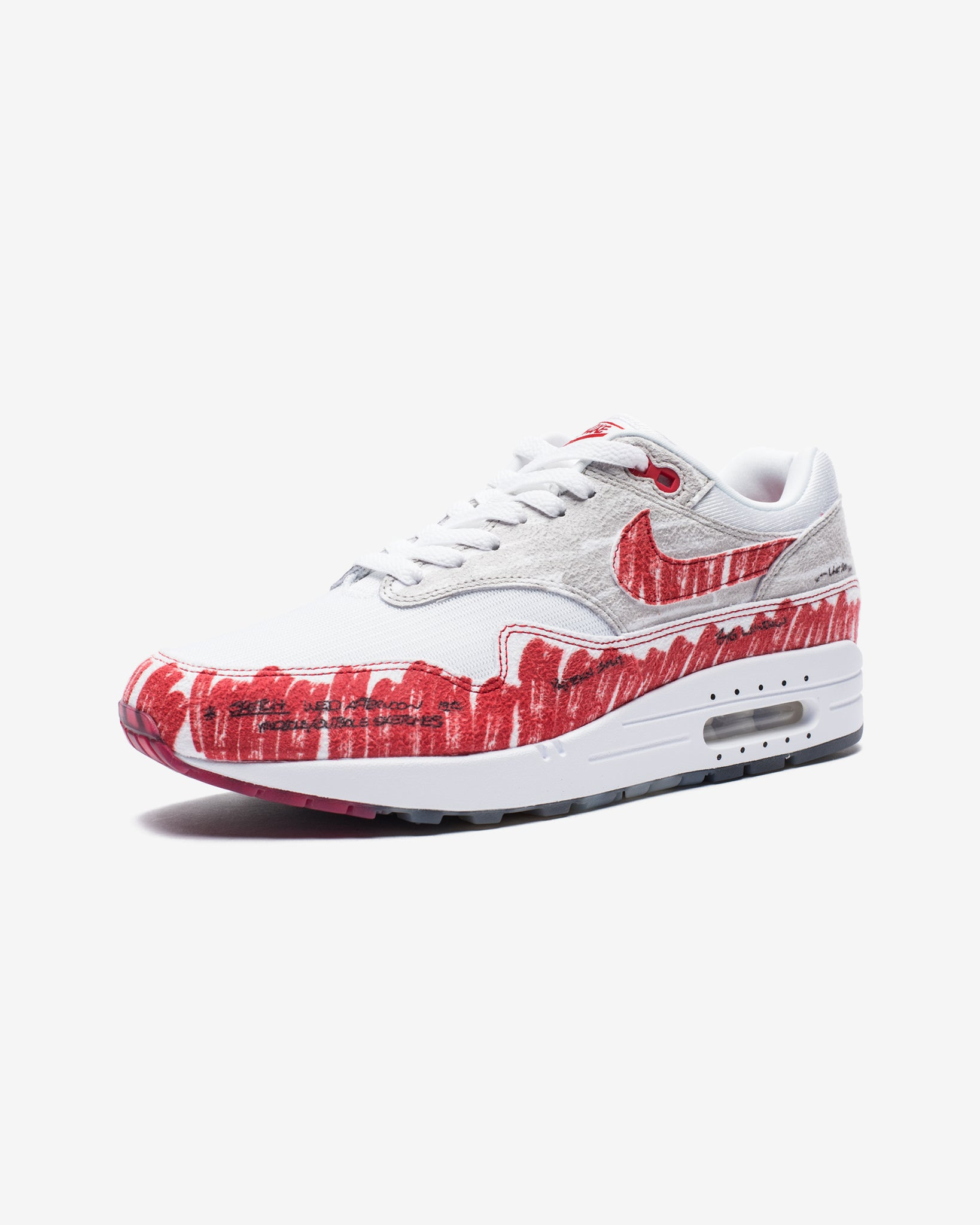 AIR MAX 1 SKETCH TO SHELF - WHITE/UNIVERSITYRED/NEUTRALGREY