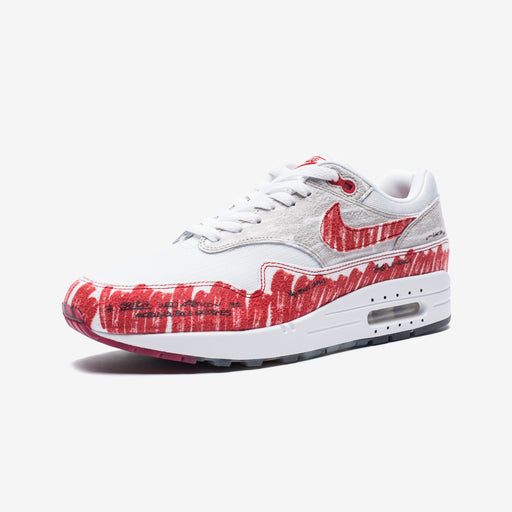 AIR MAX 1 SKETCH TO SHELF - WHITE/UNIVERSITYRED/NEUTRALGREY Image 1