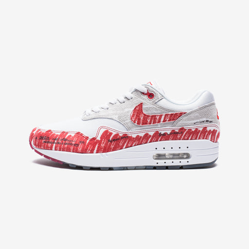 AIR MAX 1 SKETCH TO SHELF - WHITE/UNIVERSITYRED/NEUTRALGREY Image 2