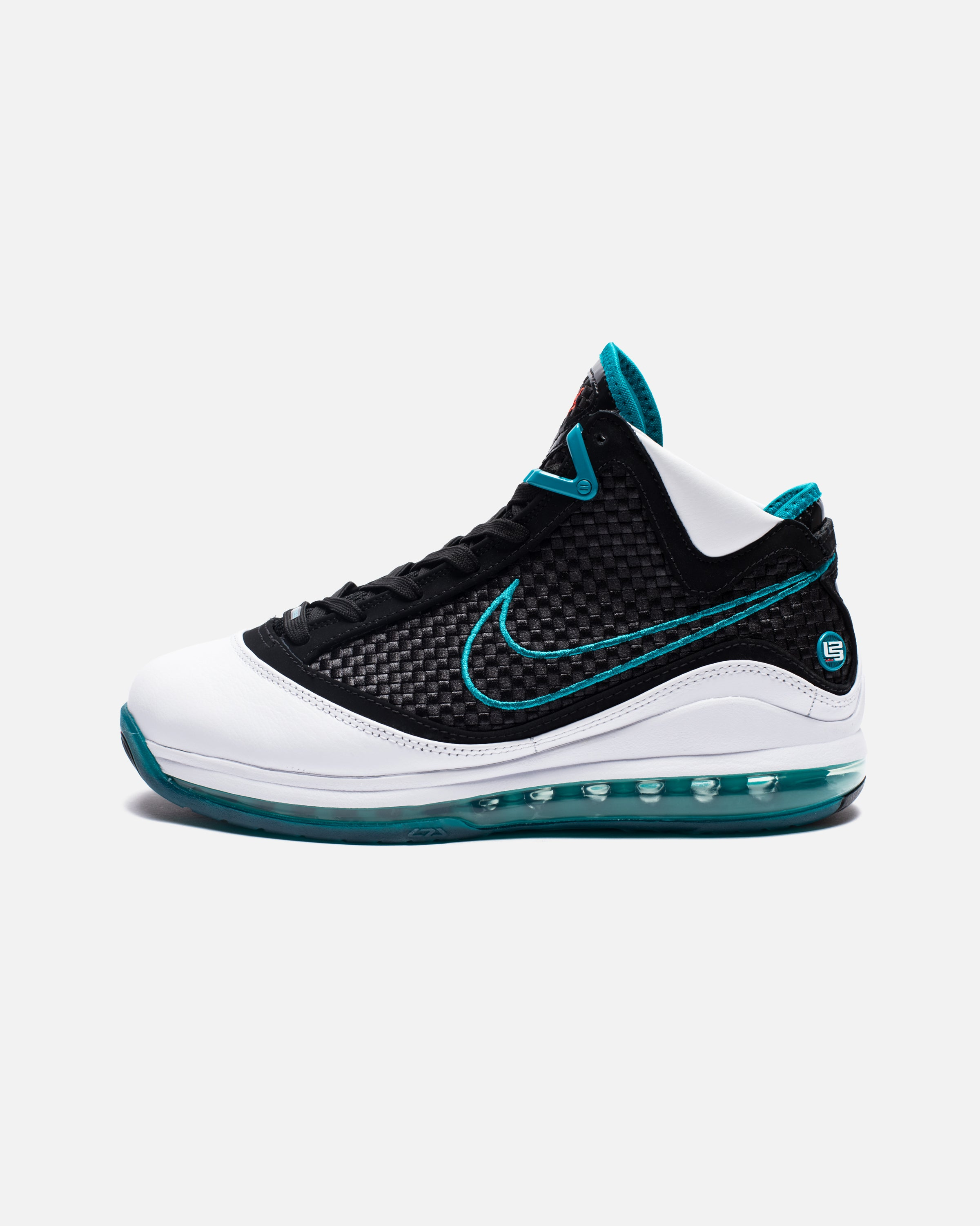 LEBRON VII QS - WHITE/BLACK/GLASSBLUE/CHALLENGERED