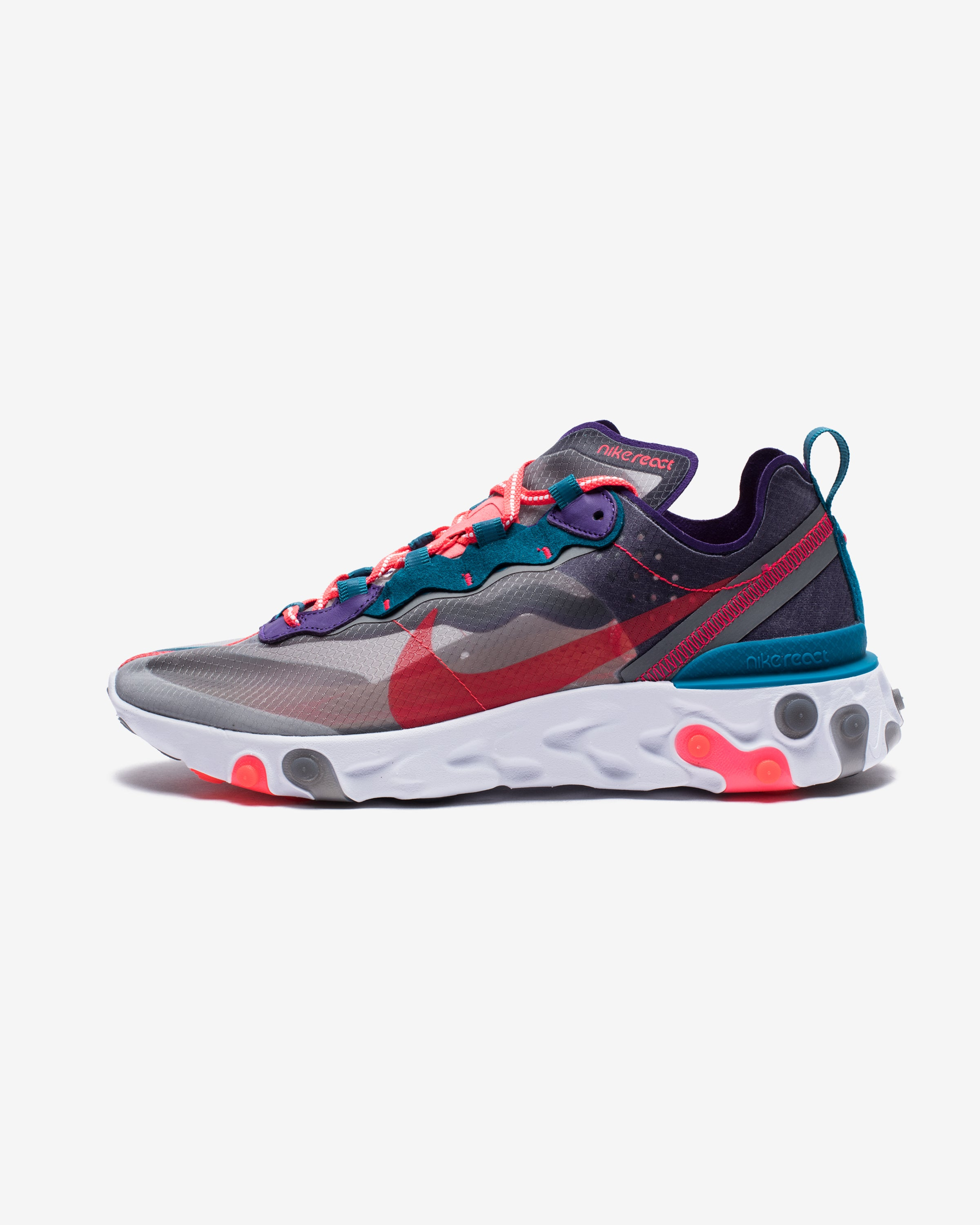 REACT ELEMENT 87 - BLACK/REDORBIT/WHITE/GREENABYSS