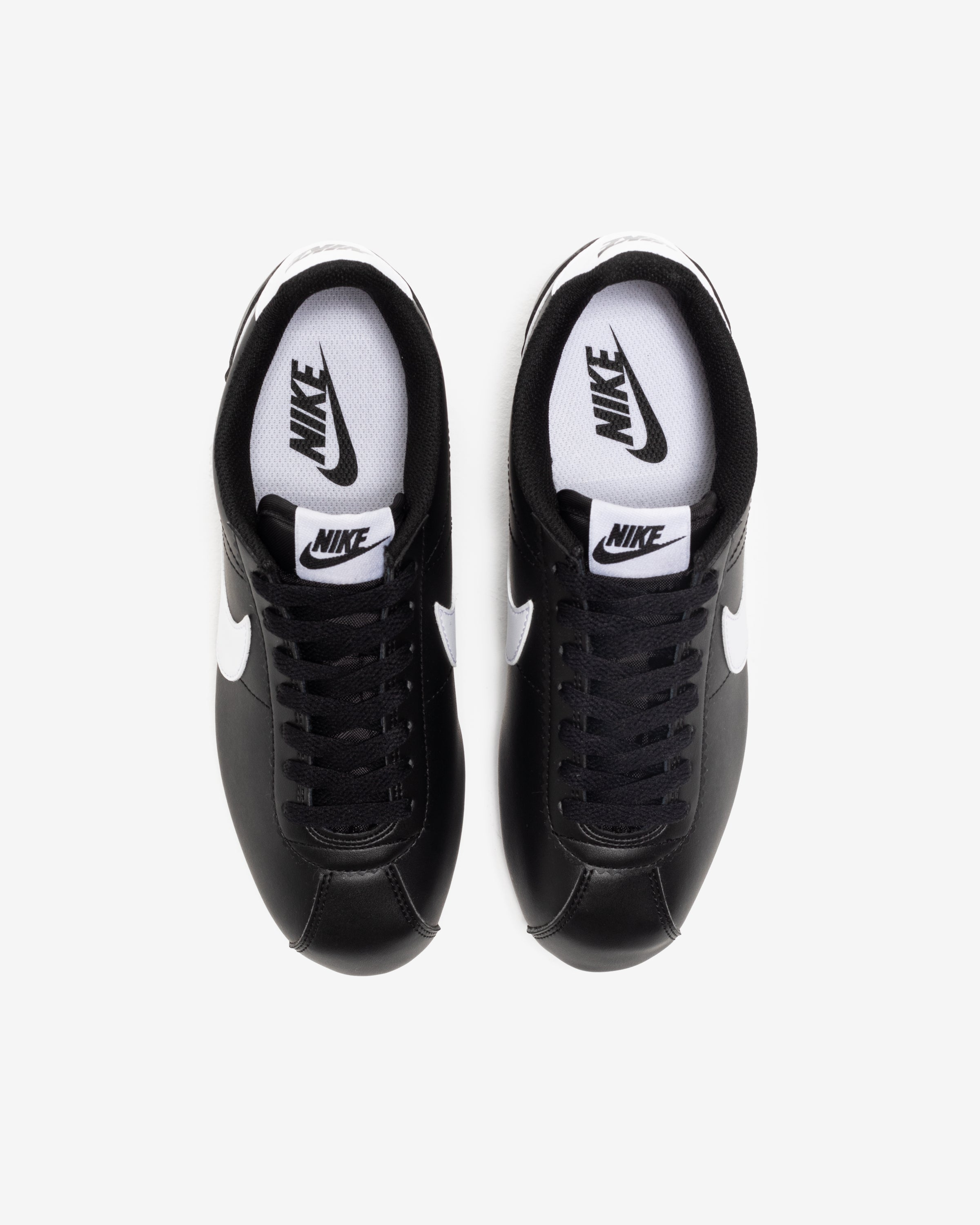 WOMEN'S CLASSIC CORTEZ LEATHER - BLACK/ WHITE