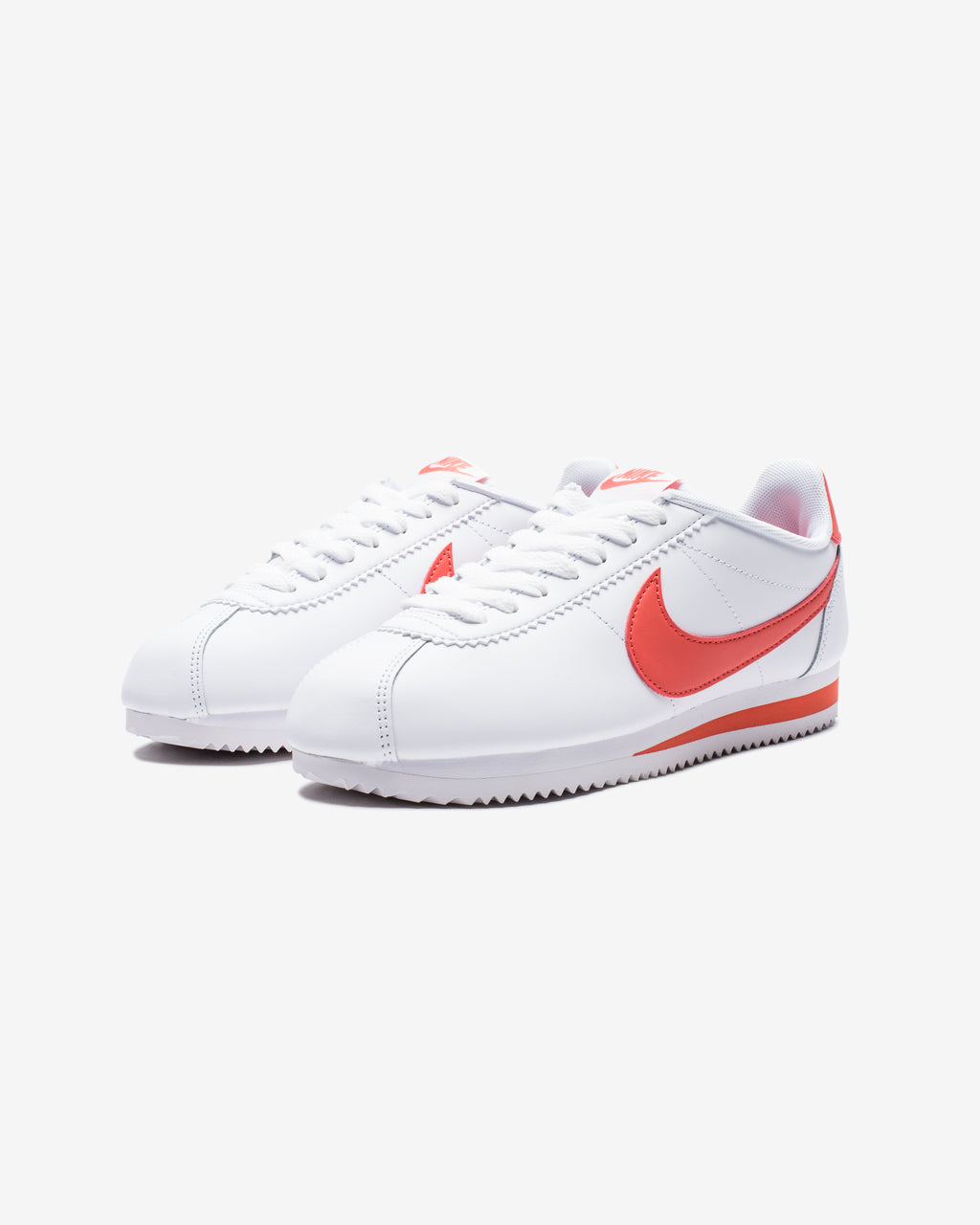 WOMEN'S CLASSIC CORTEZ LEATHER - WHITE/ MAGICEMBER