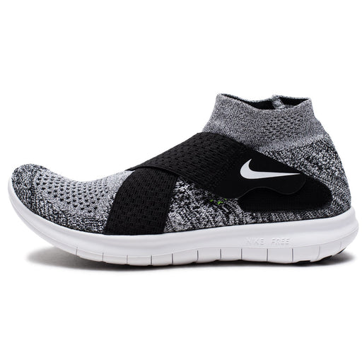 NIKE WOMEN'S FREE RN MOTION FLYKNIT 2017 - BLACK/WHITE/PUREPLATINUM/WOLFGREY