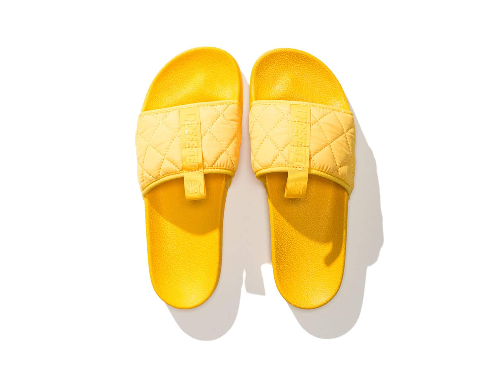 UNDEFEATED QUILTED SLIDE - YELLOW