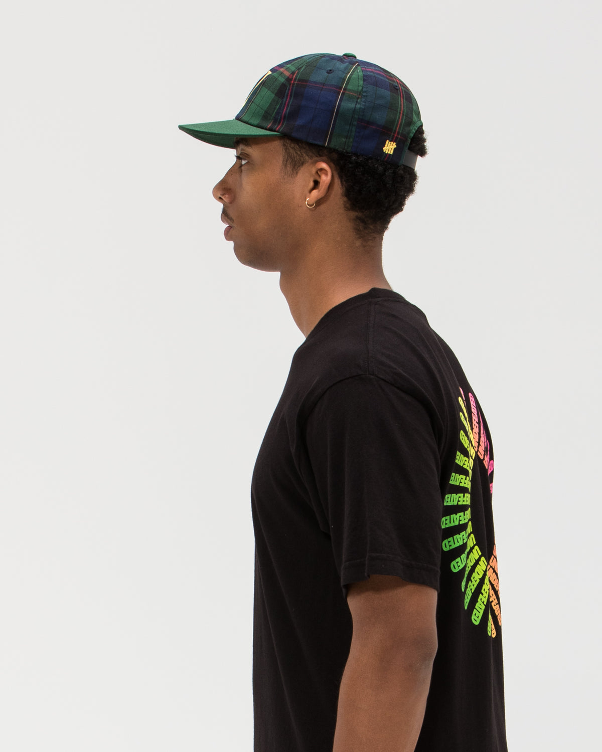 UNDEFEATED U PLAID STRAPBACK
