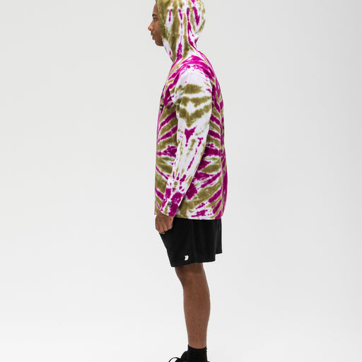 UNDEFEATED TIE DYED HOODED L/S TOP Image 15