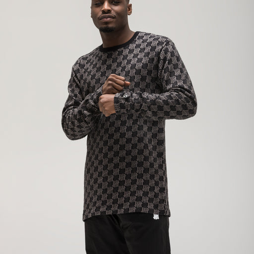 UNDEFEATED JACQUARD ICON L/S TOP Image 8