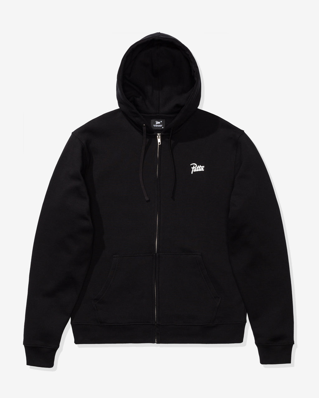 PATTA BASIC SUMMER ZIP HOODED SWEATER - BLACK