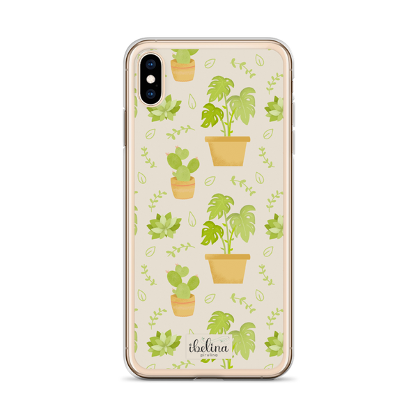 Funda de móvil era iPhone Vintage Tropical de Ibelina Pirulina