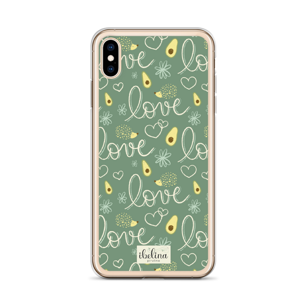 Funda de móvil era iPhone Avocado Lovers de Ibelina Pirulina