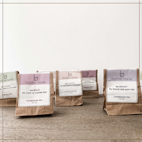Bottle-None-Ditching-The-Plastic-Paper-Bag-Shampoo-Conbditioner-Bars-Terra-Collective