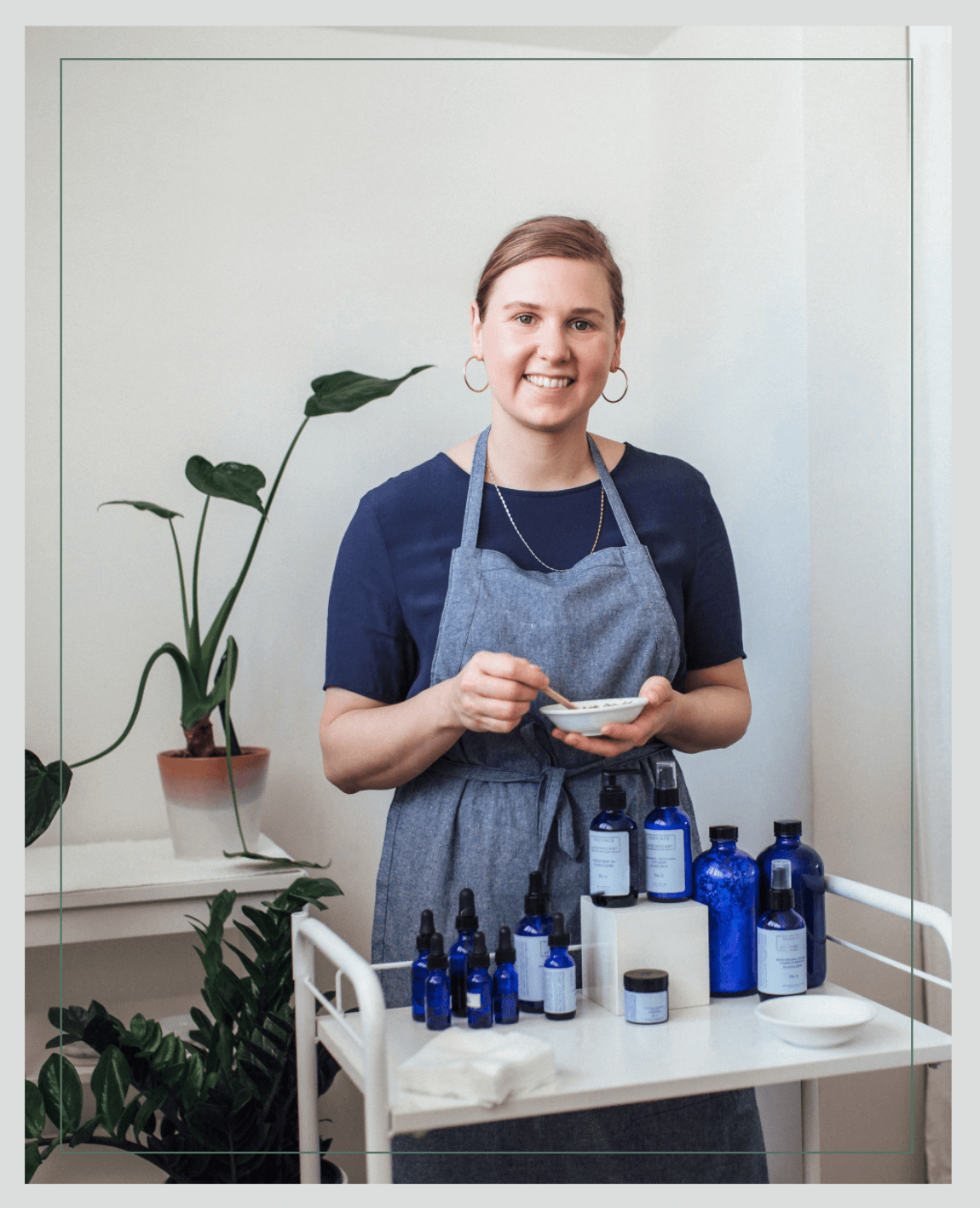Province-Apothecary-Founder-Julie-Clark-Mixing-A-Mask-At-Her-Natural-Skincare-Clinic-In-Toronto