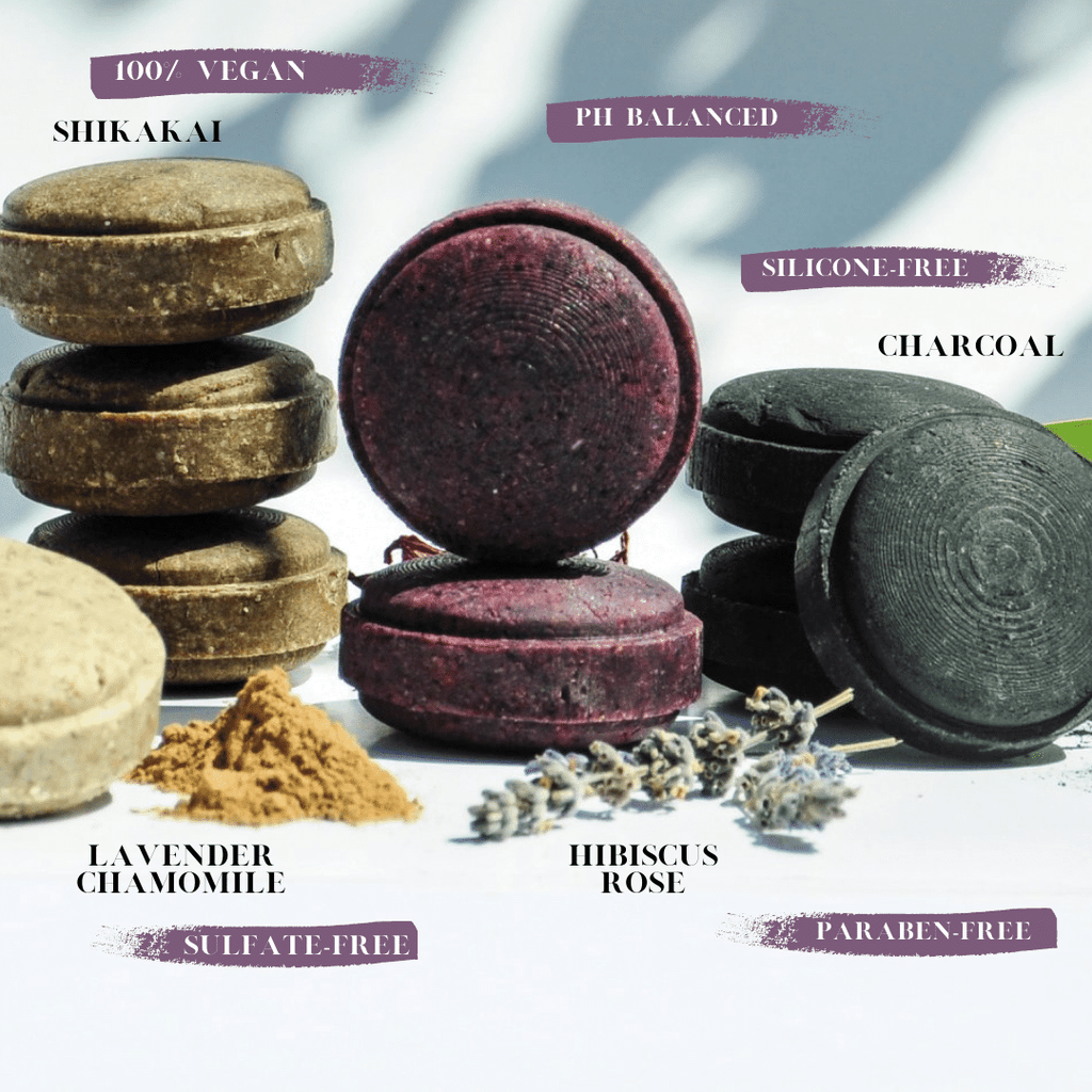 Sōmi-Shampoo-Bars-Layed-Out-With-Scents-And-Benefits-Listed