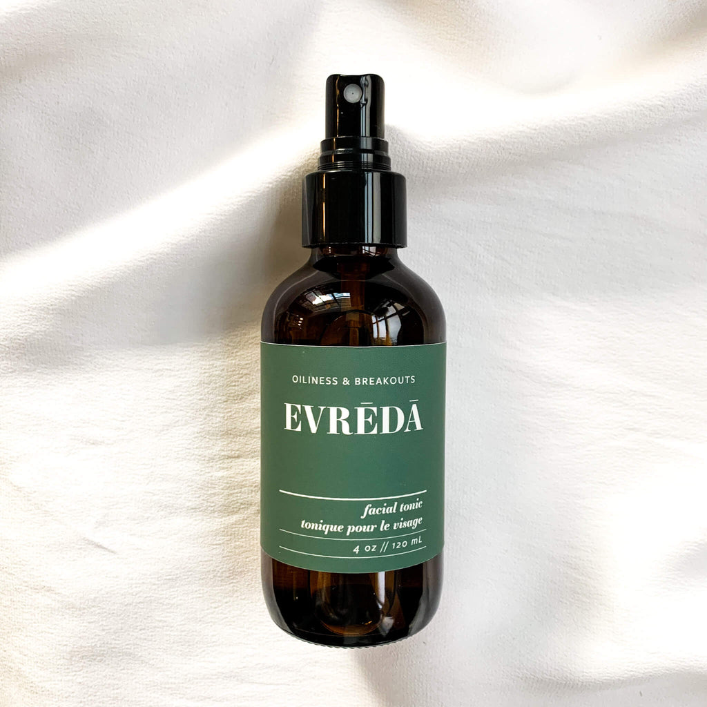 Evreda Oliness and Breakouts Facial Tonic Flat Lay Terra Collective