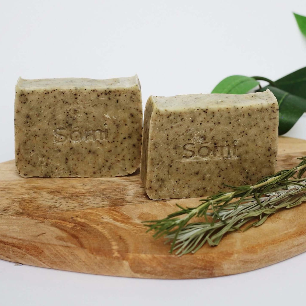 Somi-Rosemary-And-Eucalyptus-Soap-Bar-Trio-Lifestyle-Shot-Terra-Collective