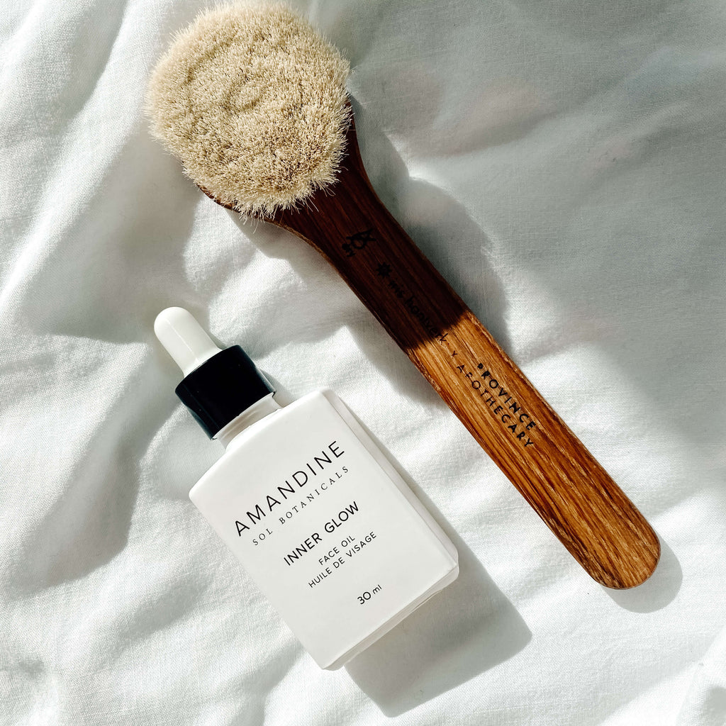 Terra-Bundle-Amandine-Sol-Botanicals-Inner-Glow-Face-Oil-Province-Apothecary-Facial-Dry-Brush-Terra-Collective
