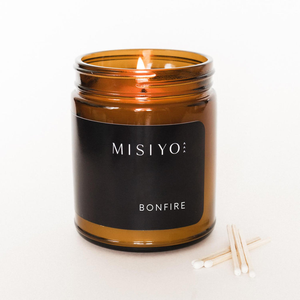 Terra Collective - Bonfire Fine Fragrance Candle + Matches - MISIYO Candle Co